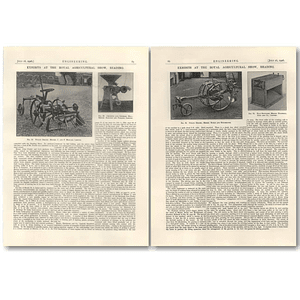 1926 Reading Agricultural Show, Potato Digger Howard, Boeke, Huidekoper