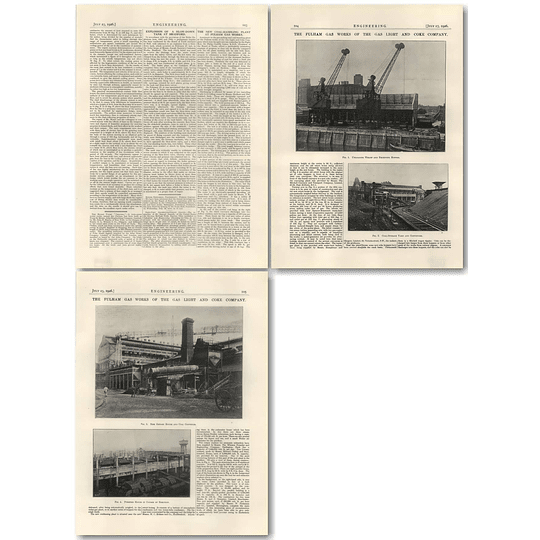 1926 The Fulham Gasworks Of The Gas Light And Coke Company