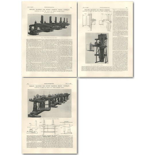 1926 Drilling Machines For Sydney Harbour Bridge Contract, Asquith Halifax