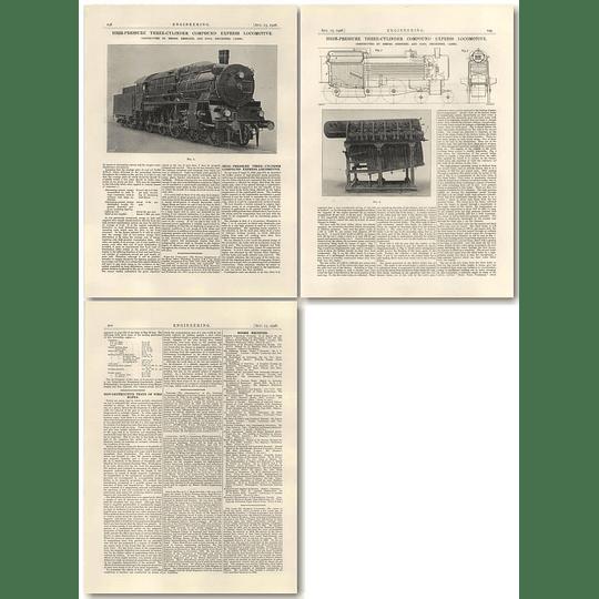 1926 High-pressure 3 Cylinder Compound Express Locomotive, Henschel, Cassell