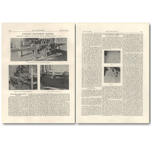 1926 High-speed Woodworking Machines, Jg Fay And Egan, Cincinnati
