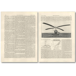 1926 The Rotating Wing In Aircraft, Paper By He Wimperis