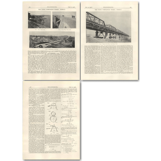 1926 Lake Tansa To Bombay Water Supply Completion Works