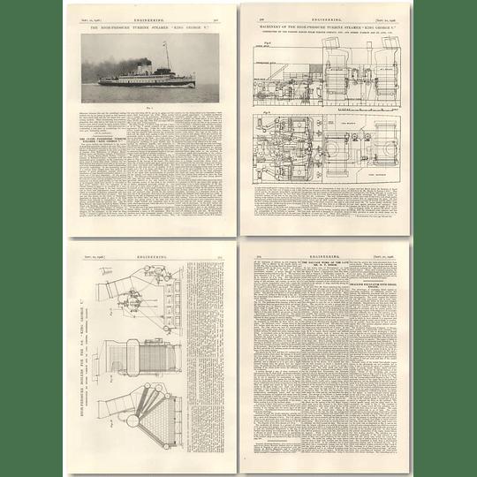 1926 High-pressure Turbine Steamer, King George V, Machinery, Boilers
