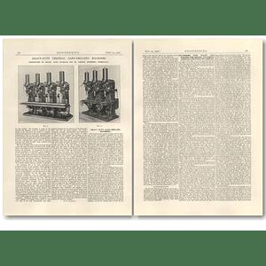 1926 Heavy Duty Vertical Gang Drilling Machines James Archdale Birmingham