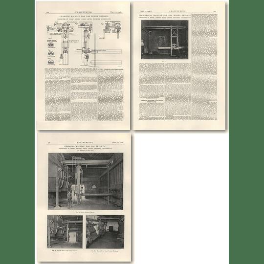 1926 Charging Discharging Machine For Gasworks Retorts, Morrison, Loughborough