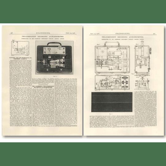 1926 Cambridge Two Component Recording Accelerometer