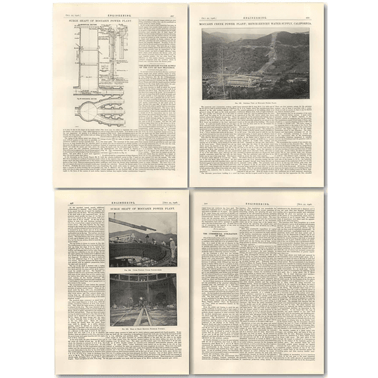 1926 The Hetch Hetchy Water Supply City San Francisco Part 6 Moccasin