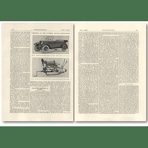 1926 Morris Colonial Model Motor Car, Engine,  Description