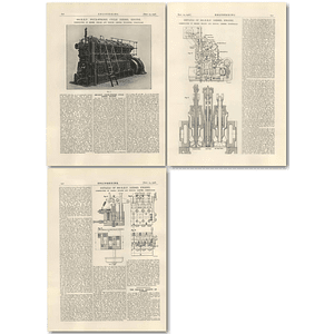 1926 600 BHP Four Stroke Cycle Diesel Engine, Belliss Morcom