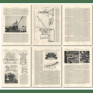 1926 Coal Handling Plant at Beckton, Conveying, Hopping, Weighing.