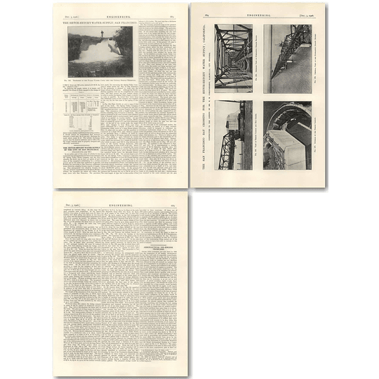 1926 The Hetch Hetchy Water Supply City San Francisco Part 8 Dumbarton Straits
