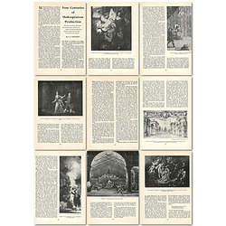 1964 Four Centuries Of Shakespearean Production - Article