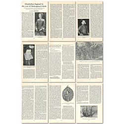 1964 Elizabethan England In The Year Of Shakespeare's Birth - Article