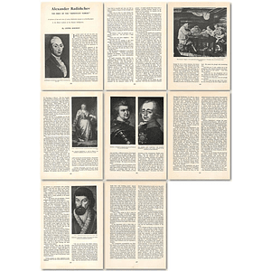 1964 Alexander Radishchev, First Of The Repentant Nobles - Article