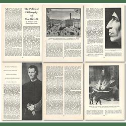 1964 The Political Philosophy Of Machiavelli , Ernesto Landi - Article