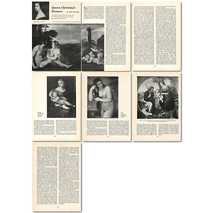 1964 Queen Christina's Pictures, Discriminating Patron Of The Arts - Article