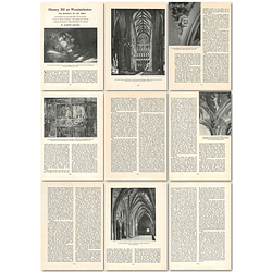 1964 Henry Iii At Westminster, The Building Of The Abbey - Article