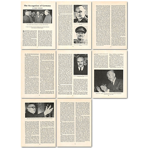 1963 Post-war Germany, Potsdam Conference To Federal Republic , Article