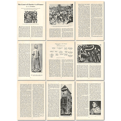 1963 The Court Of Charles Vi Of France , Article