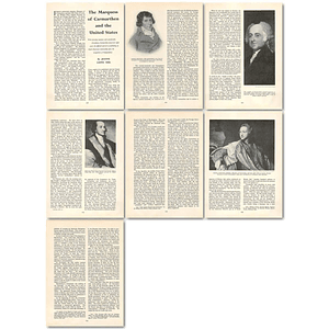 1963 The Marquess Of Carmarthen And The United States , Article