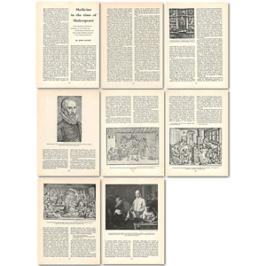 1963 Medicine In The Time Of Shakespeare , Article