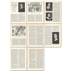 1963 Henry Vane The Younger And The Politics Of Religion , Article