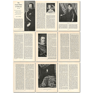1963 The Count Duke Of Olivares, 1587 To 1645 , Article