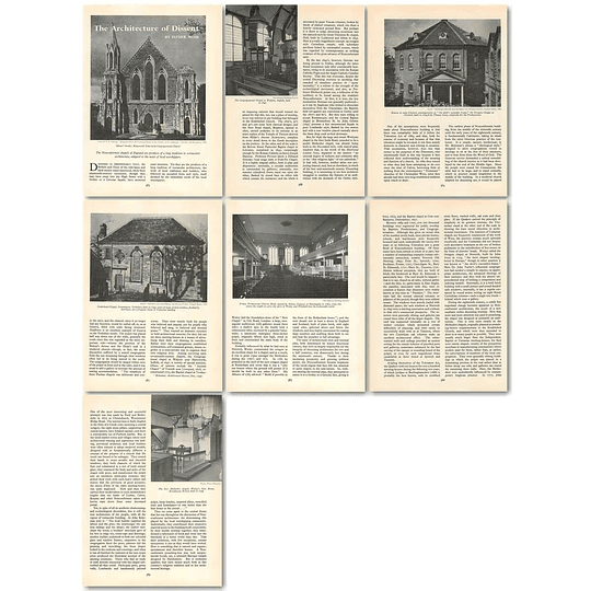 1963 Nonconformist English Chapels, Architecture Of Dissent , Article