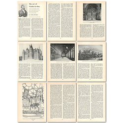 1963 The Art Of Viollet -le-duc, Second Empire Architect , Article