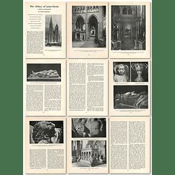 1963 The Abbey Of Saint Denis, Royal Mausoleum , Article