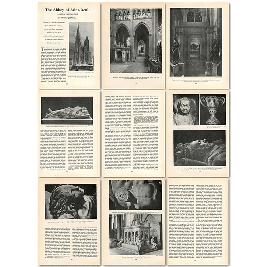 1963 The Abbey Of Saint Denis, Royal Mausoleum , Article