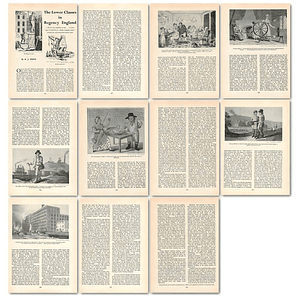 1963 The Lower Classes In Regency England , Article