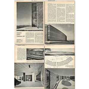 1962 New Research Centre For Ibm, Yorktown New York