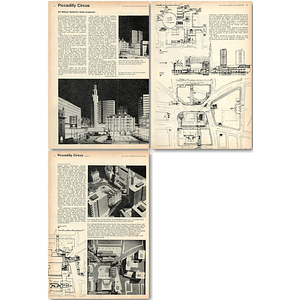 1962 Sir William Holford's Latest Proposals For Piccadilly Circus