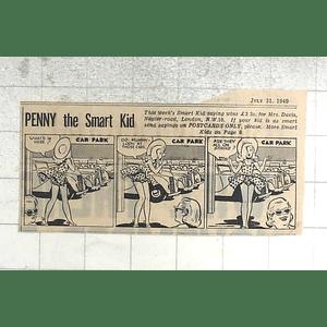 1950 Mrs Davis, Napier Road London Nw10 Wins Penny Smart Kid