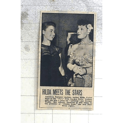 1950 American Embassy Canteen Worker Hilda Carter Meets The Stars