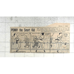 1950 Mrs O Pross, Portrea Hall London W2 Wins Penny Smart Kid