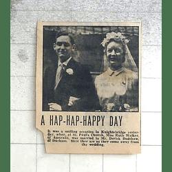 1950 Australian Ruth Walker Marries Derick Dodshaw Of Durham
