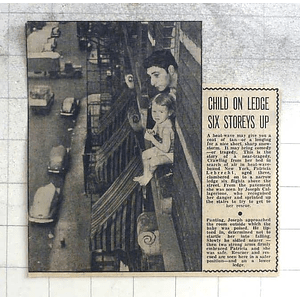 1950 Patricia Lebrecht On Ledge, 6 Stories Up New York, Joseph Callagerione
