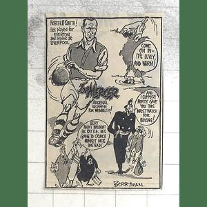 1950 Berryman Cartoon Joe Mercer, Arsenal Skipper For Wembley