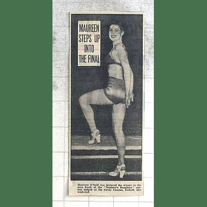 1950 Maureen O'neill Wins Beauty Competition Savoy Cinema Enfield