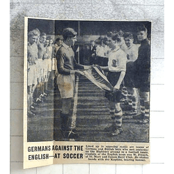 1950 Germans Play English At Soccer, St Mary And Epsom Boys Club W French
