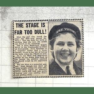 1950 Zora Radovitch, Wren Driver For C-in-c Portsmouth