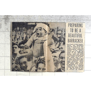 1950 Young Baby, John Garth, Melbourne, At The Football