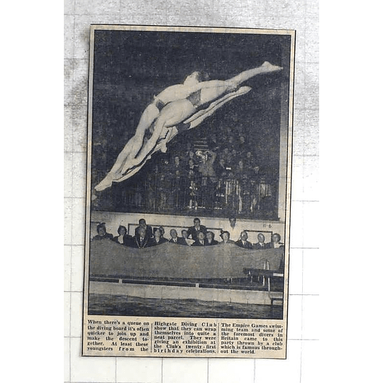 1950 Highgate Diving Club, 21st Birthday Celebration