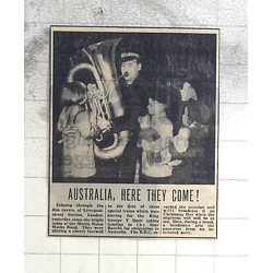 1950 Morris Motor Works Band Playing Farewell For Australia Emigres
