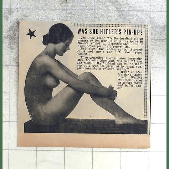 1950 Was She Hitler's Pinup? Mrs Lorraine Marsland, Kensington Housewife