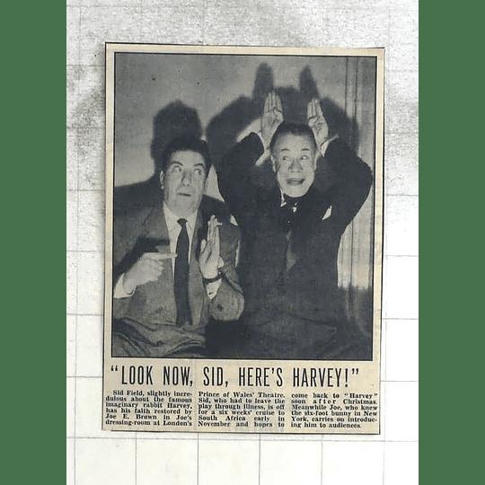 1950 Sid Field With Joe Brown In Dressing Room Prince Of Wales Theatre London