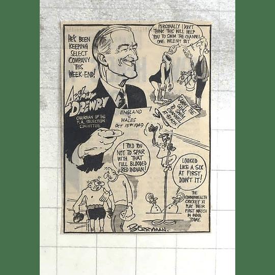 1950 Berryman Cartoon Arthur Drewry, F A Selection Committee